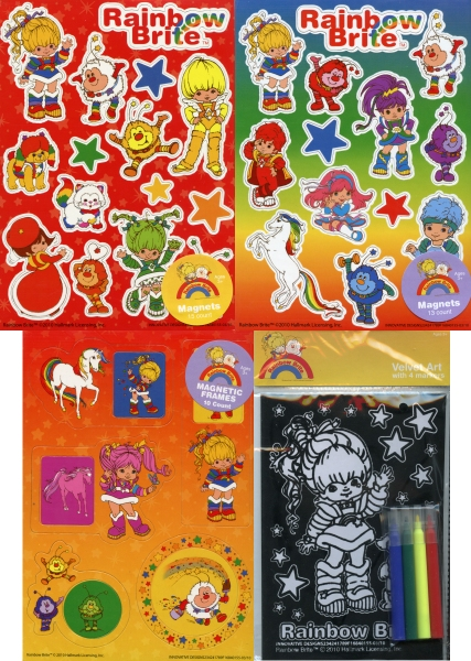 New Rainbow Brite Magnets and Velvet Art Set