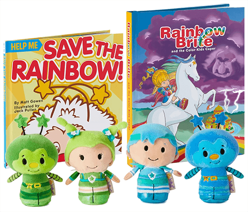 New Rainbow Brite itty bittys and Books
