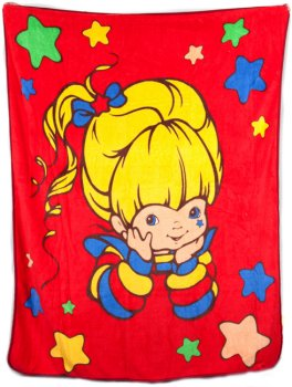 Spencer's Rainbow Brite Fleece Throw