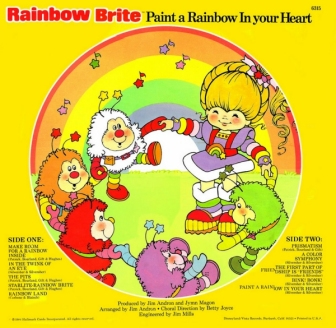 Paint a Rainbow in Your Heart Picture Disk Back