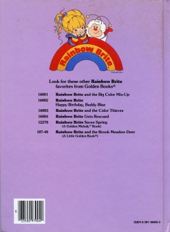 Rainbow Brite and the Color Thieves Back