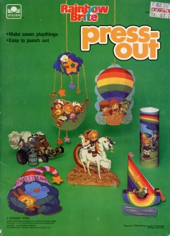 Rainbow Brite Press Out Book