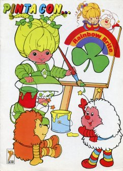 Spanish Rainbow Brite Coloring Book - Patty O'Green