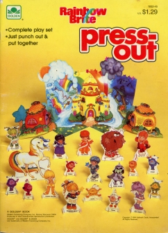 Rainbow Brite Yellow Press-Out Book