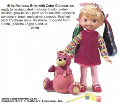 Rainbow Brite with Glo Bear