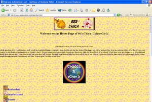 80's Chica's 80's Cartoon Site