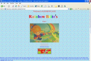 My first Rainbow Brite webpage