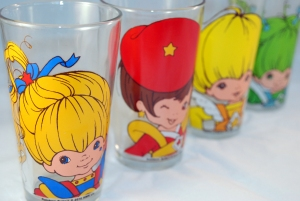 Rainbow Brite Drinking Glasses from Spencers